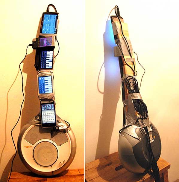 Phone Guitar kicks out the jams
