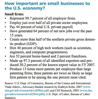 How important are small businesses to the U.S. economy?
