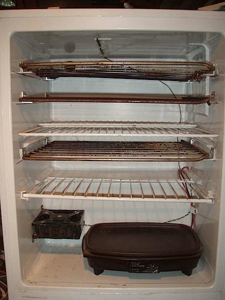 Mini fridge food dehydrator