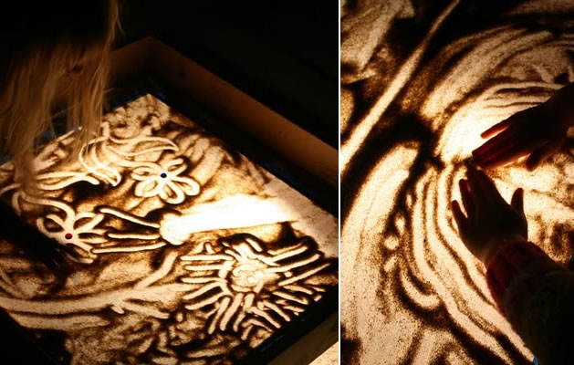 How-To: Sand art lightbox