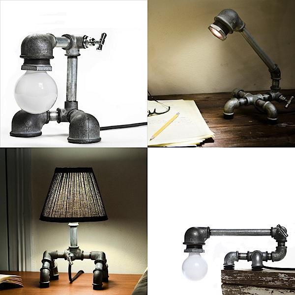 Beautiful plumbing pipe lamps