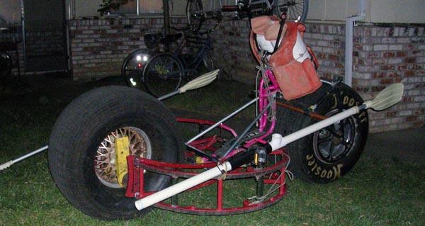 Monster bike kinetic scuplture
