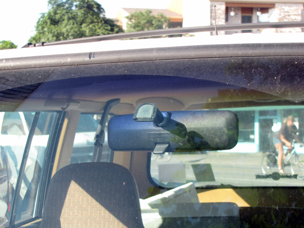 Strongly bond metal to glass with rear view mirror adhesive