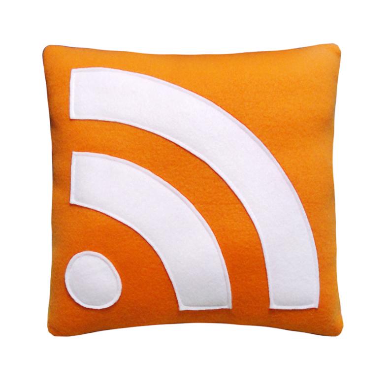 RSS icon throw pillow