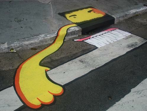 Storm drain graffiti
