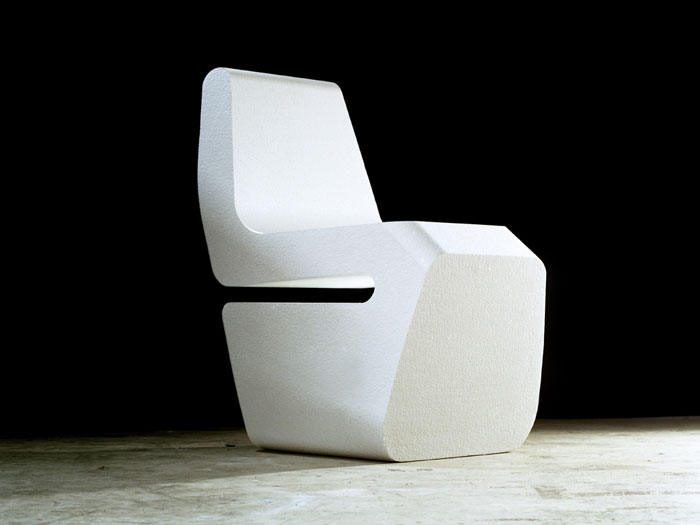 Hot-wire cut styrofoam chair