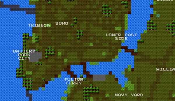 8bit city maps Make