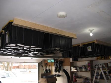 Clever overhead garage storage hack