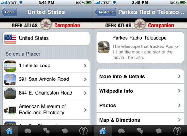 Geek Atlas companion app