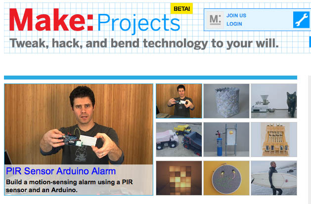 Coming Monday: The Make: Projects platform