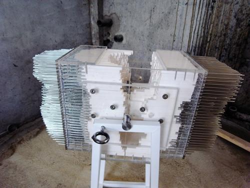 Pixel casting machine