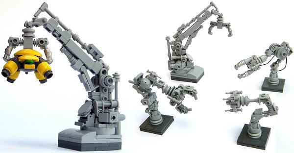 Greeble-tastic Lego robot arms