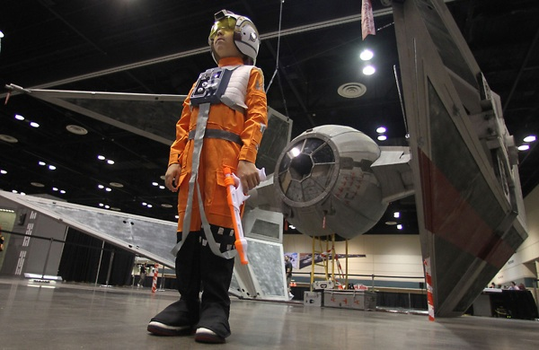 Life-sized TIE Interceptor at Star Wars Celebration V