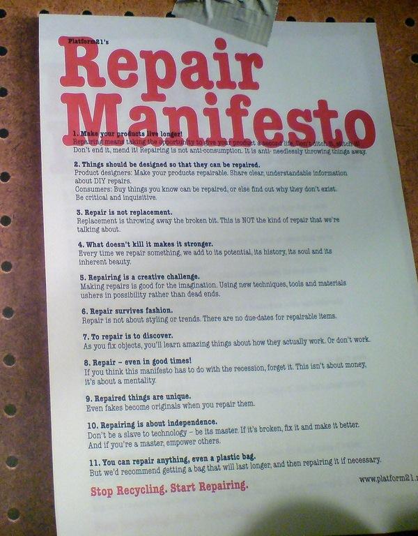 Make and Mend: Platform21's repair manifesto