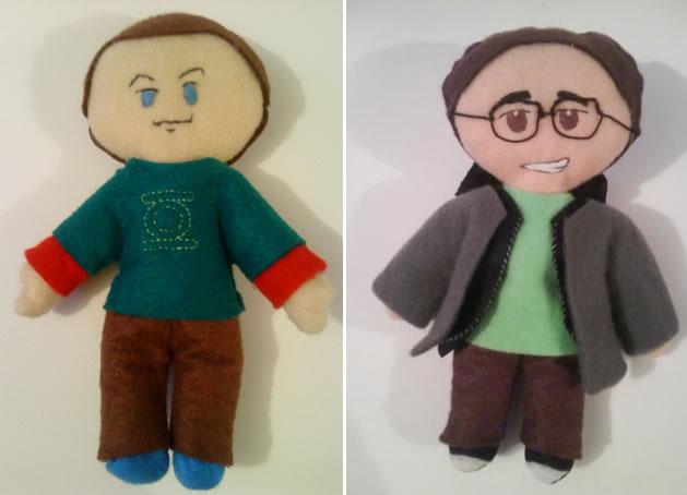 """The Big Bang Theory"" Characters in Plush"
