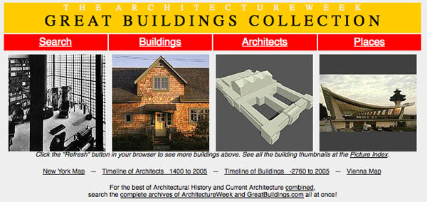 Gallery of buildings and architectural elements