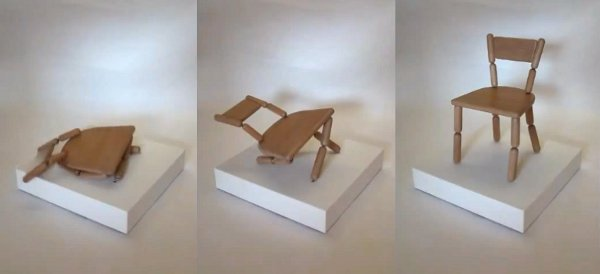 """Collapsing """"swoon"""" chair"""
