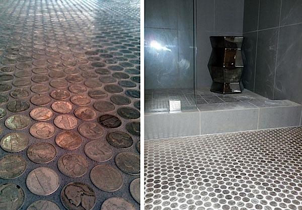 Herringbone Floor Tile Traditional Dc Metro With Nickel Bathroom ...