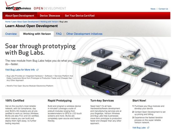 Bug Labs & Verizon – Open source hardware on a 3G network – legit, too :)