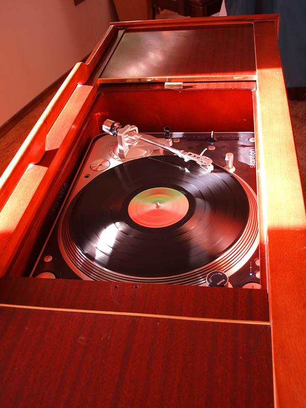 Console record player retrofit