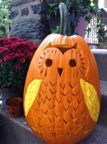 Brett Bara's 45-Pound Owl-o-Lantern