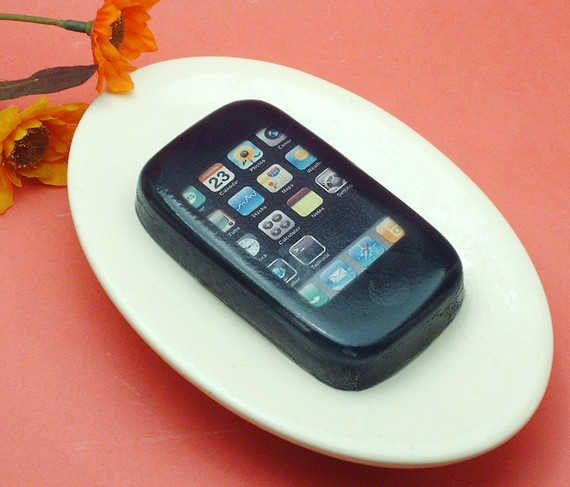 Grilled sausage scented iPhone soap