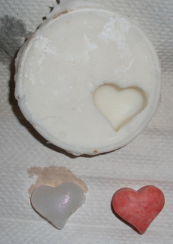 Heart mold from homebrew silicone