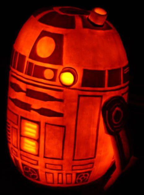R2-D2 Pumpkin And a Death Star Pumpkin Carving How-To