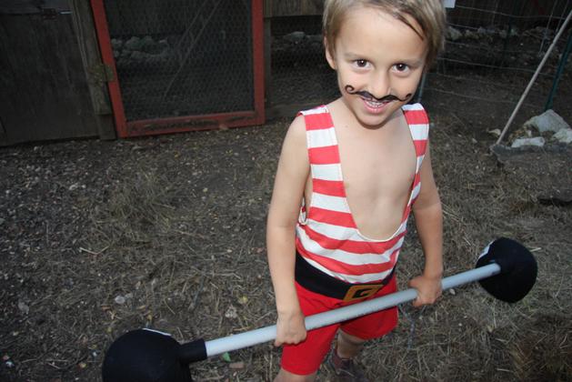 How-To: Vintage Strongman Kid's Costume