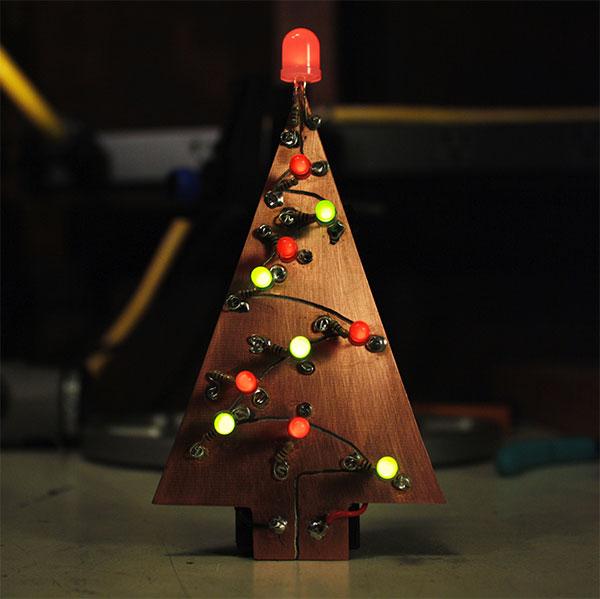 Make a custom circuit board holiday tree