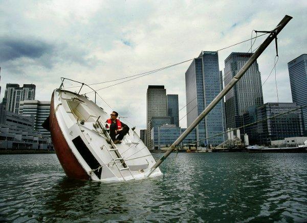 Balancing boat isn't actually sinking
