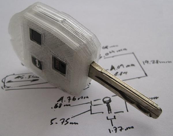 MakerBot keyfob housing