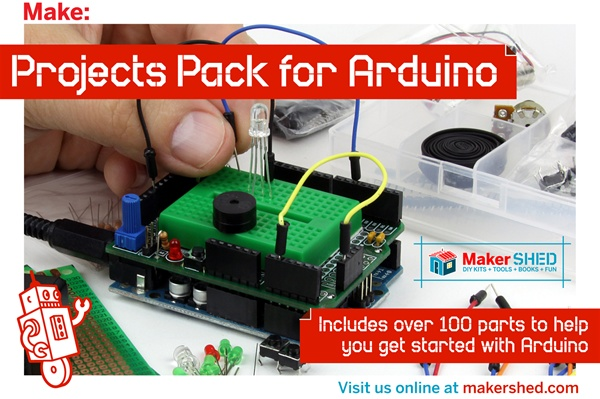 New in the Maker Shed: Projects Pack for Arduino V2.0