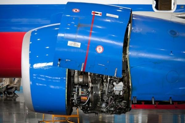 A look inside an aircraft repair plant