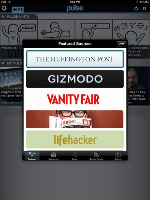 MAKE featured on Pulse mobile newsreader app