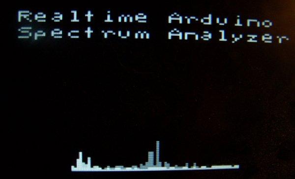 Real-time spectrum analyzer powered by Arduino