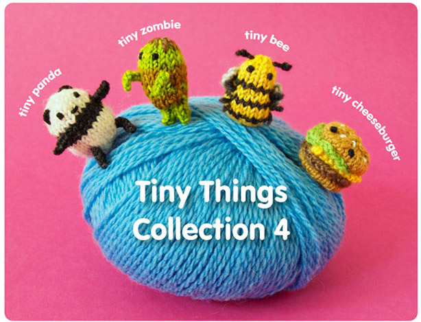 Mochimochi Land's Tiny Things Collection 4 Knitting Patterns