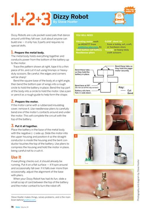 Weekend Project: Dizzy Robot (PDF)