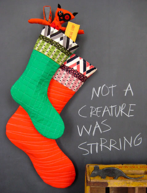 Denyse Schmidt's All The Trimmings Stocking Pattern