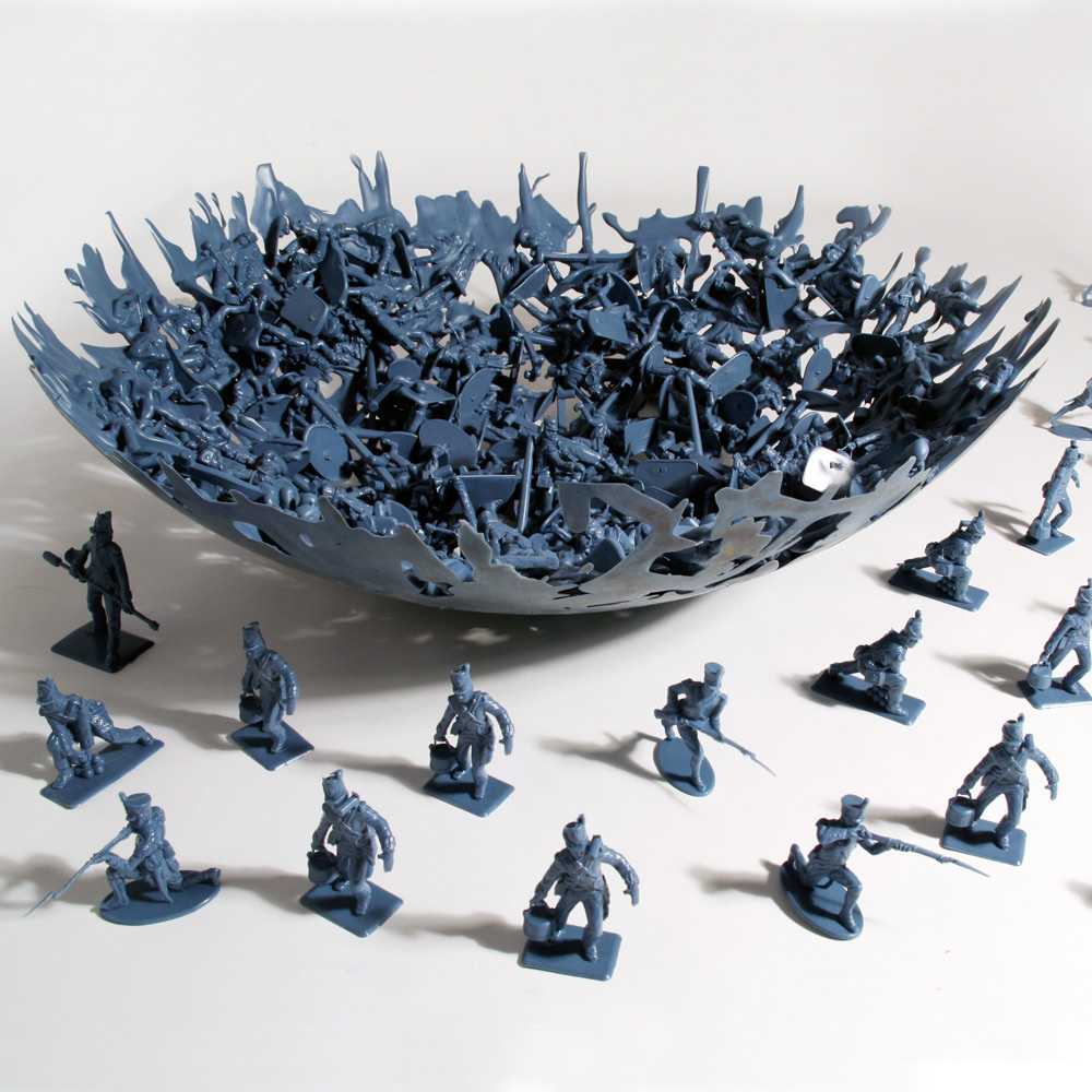 Bowl made from melted little green army men
