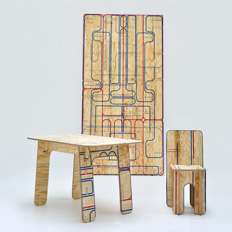 Saw-your-own plywood furniture