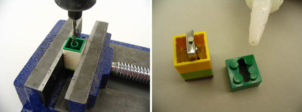 Create a Lego flash drive with functioning cap