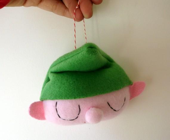 My Paper Crane's 2010 Plush Elf Ornament