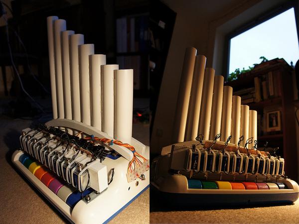 Solenoid xylophone