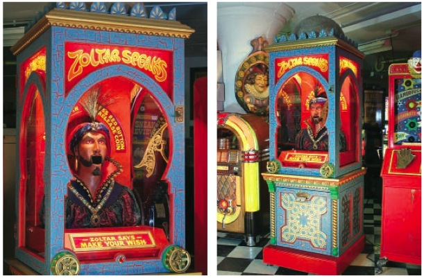 Vending machine sits where Zoltar once did