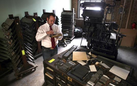 Boston vintage printshop equipment bonanza