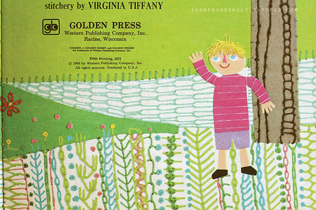 Stitched Children's Book Illustrations by Virginia Tiffany