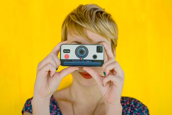 iPhone 4 Polaroid decal