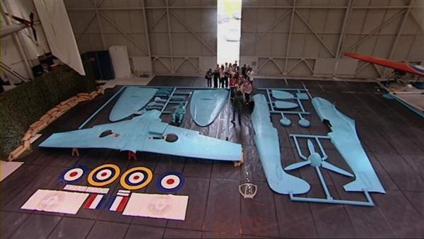 Life-size Spitfire model kit