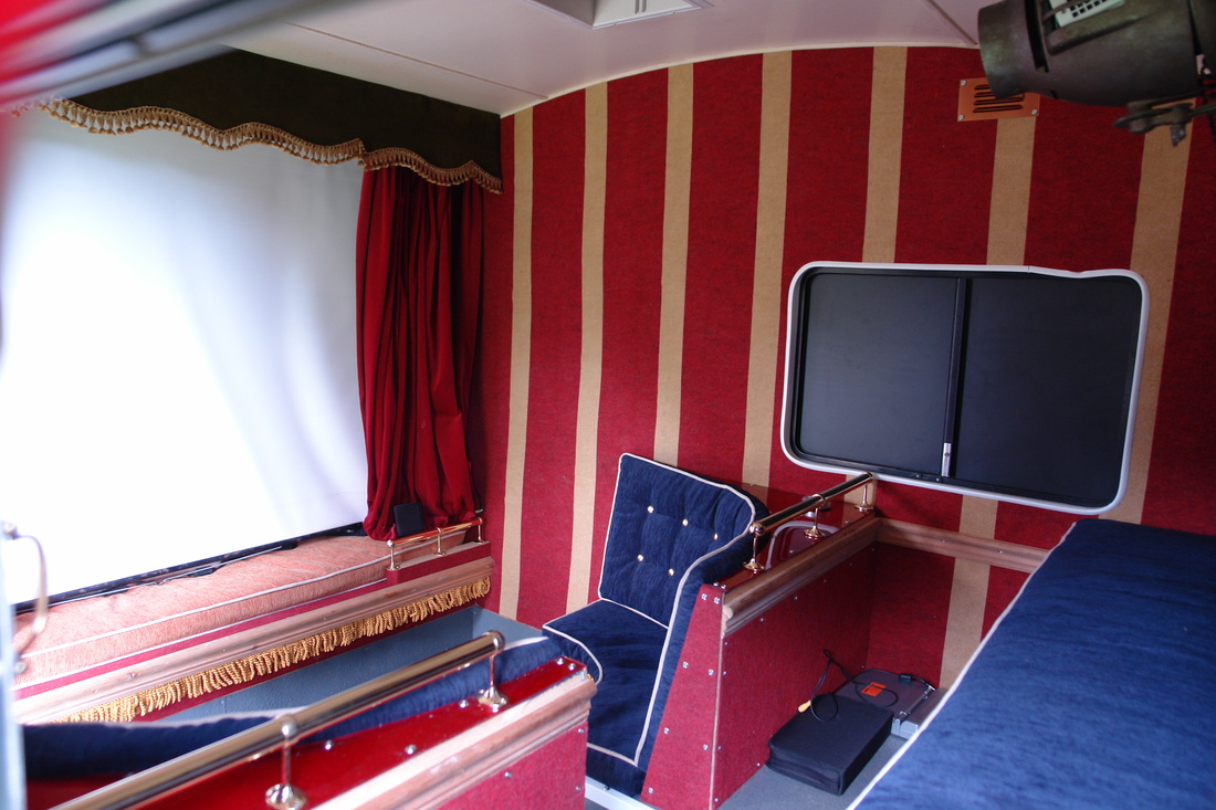 Worlds smallest solar movie theater in a trailer